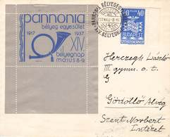 UNGARN - BRIEF 1937 TAG DER BRIEFMARKE /ak497 - Hongrie
