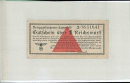 BILLET De Camps De Prisonniers 1 Reich Mark   KRIEGSGEFANGENEN LAGERGELD Gutfchein über 1 Reichsmark   - (cahier Noir 3) - [ 4] 1933-1945: Derde Rijk