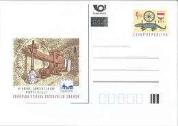 CDV 85 And 88 Czech Republic Brno Stamp Exhibition 2003 Crocodile Wine Cellars, Wine Press - Vini E Alcolici