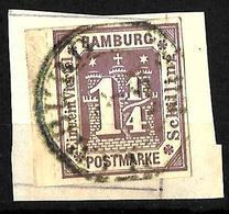 522 - GERMANY - HAMBURG - 1866 - OLD EMBOSSED FORGERY - FAUX - FAKE - FALSE - FALSCH - Briefmarken