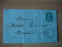 Gros Chiffre 16 Aignay Le Duc Obliteration Lettre Timbre Empire - Marcophilie (Lettres)
