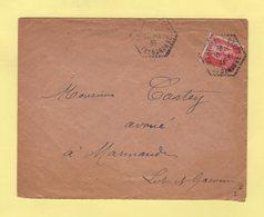 Auriac Sur Drop - Lot Et Garonne - 10-1-1935 - Type Paix - Postmark Collection (Covers)