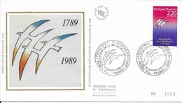 TIMBRE N° 376 -  ANDORRE   - 1ER JOUR :   DE LA REVOLUTION FRANCAIS   - 1989 - BELLE FRAPPE - French Andorra