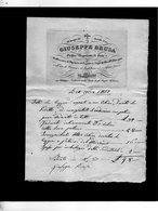 CG - Fattura Ditta Giuseppe Brusa - Milano 10/8/1832 - Orefice Negoziante Di Gioie E Argenterie - Italia