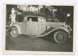 E385 Photographie Originale Vintage Automobile Voiture Car Ancien Ancienne Décapotable - Automobili