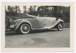 E386 Photographie Originale Vintage Automobile Voiture Car Ancien Ancienne Décapotable - Automobili