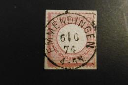 Deutsches Reich Mi. 25 Gestempelt EK Emmendingen-Briefstück - Baden