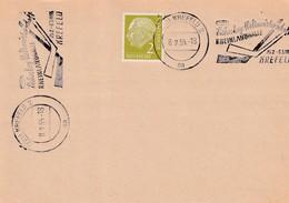 Germany Deutschland 1955 Card: IIHF Ice Hockey Sue Glace World Championship Krefeld; Eishockey; Slogan Cancellation - Hockey (sur Glace)