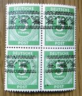 1948 Bizone Bandaufdruck Michel IV/I, Postfrischer 4-er Block, Laut Michel 120,00 €, Startpreis Nur 2,5% - American/British Zone