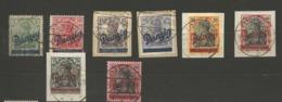 Danzig  1920 Mi.Nr.:21-25  Germania  Overprint  5-75, 10, 40,80 Pfg. Cancelled O - Danzig