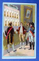 CHROMO..... CHICORÉE LA BELLE JARDINIÈRE.....ED. LAAS....HISTOIRE DE L' ECLAIRAGE.....LA LAMPE CARCEL - Cromos