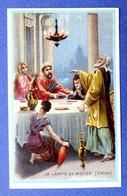 CHROMO..... CHICORÉE LA BELLE JARDINIÈRE.....ED. LAAS....HISTOIRE DE L' ECLAIRAGE.....LA LAMPE  DE MOISE - Cromos