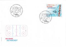 Switzerland 2008 Cover Ice Hockey Sur Glace Eishockey: 100 Years Of Ice Hockey - Eishockey