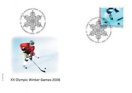 Switzerland 2006 Cover Ice Hockey Sur Glace Eishockey: Winter Olympic Games Torino - Eishockey