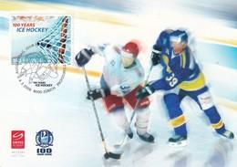Switzerland 2008 Maximum Card Ice Hockey Sur Glace Eishockey: 100 Years Of Ice Hockey; 100 Years IIHF - Eishockey