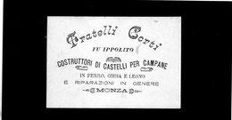 CG - Cartoncino Ditta Fratelli Corti - Monza - Costruttori Di Castelli Per Campane - Advertising