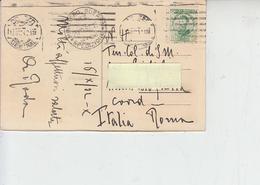 """SPAGNA  1932 - Cartolina Per Italia Con Annullo """"MINISTERO GUERRA"""" - 1931-50 Storia Postale"""