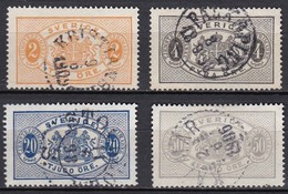 S327 – SUEDE – SWEDEN – 1891 – NEW VALUES FULL SET - Y&T # 15/8 USED - Service