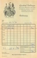AUTRICHE INNSBRUCK GASTHOF DOLLINGER HOTEL RESTAURANT 1974 NOTE D'HOTEL - Austria