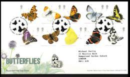 Great Britain FDC 2013 Butterflies (LC3) - Butterflies