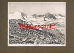 193-2 Zittauer Hütte Sektion Warnsdorf Zillertal Alpenverein Kunstblatt Lichtdruck 1908 !! - Ohne Zuordnung