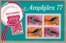 BIRDS Vogel Oiseaux Amphilex Surinam 1977 Mi Bl 19 MNH (**) #6123 - Unclassified
