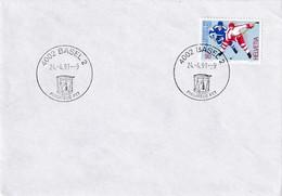 Switzerland 1991 Cover: Ice Hockey Sur Glace Eishockey: IIHF World Championship 1990 WM - Eishockey