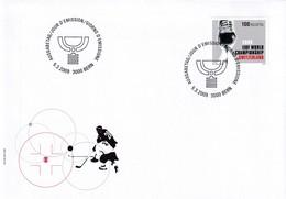 Switzerland 2009 Cover: Ice Hockey Sur Glace Eishockey: IIHF World Championship; Skate; Trophy - Eishockey