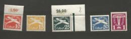 Danzig  1935 Mi.Nr.: 251-55  Air Mail Issue Set Mint Never Hinged Xx, 15 Pfg, 50 Pfg Mint Hinged X - Danzig