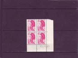 N° 2180- 0,15 LIBERTE - 1° Tirage Du 9.11 Au 13.11.1981 - 12.11.1981 - - 1980-1989