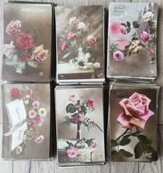 GROS LOT 550 CARTES CPA FANTAISIE FLEURS. Thème Unique LES ROSES. Poids + De 2kg - Postcards