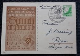DR 1937, Postkarte P245, BERLIN Sonderstempel - Allemagne