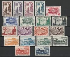 SAINT PIERRE ET MIQUELON 1947 YT N° 325 à 343 */** - Unused Stamps