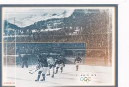 Switzerland 2002 Postal Stationery Card: Ice Hockey Sur Glace Eishockey: Olympic Games 2002 Salt Lake City; - Eishockey