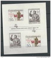 1988 MNH  Ceskoslovensko, Block 77B Imperf - Blocks & Sheetlets