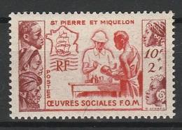 SAINT PIERRE ET MIQUELON 1950 YT N° 344 ** - Nuovi