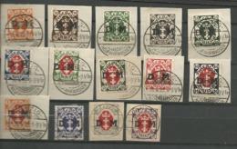 Danzig  Duty Stamps 1921 Mi.Nr.: 1-14 Coat Of Arms 5Pfg - 3 Mark Cancelled O - Danzig
