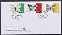 92.- GREEK CYPRUS 2020 FDC BUTTERFLIES OF CYPRUS - Schmetterlinge