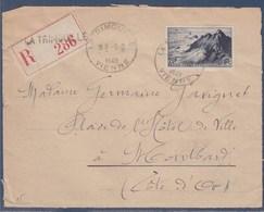 = Pointe Du Raz Recommandé Devant D'enveloppe N°764 La Trimouille 9.2.48 - Covers & Documents