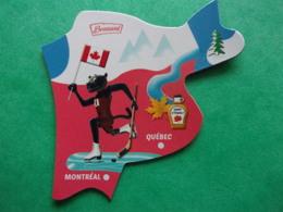 Magnet Brossard Savane Canada Québec Montréal Sirop D'érable Hockey Patinage Sapin - Tourisme