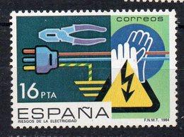 ESPAGNE - SPAIN - 1984 - LES DANGERS DE L'ELECTRICITE - DANGERS OF ELECTRICITY - - 1931-Aujourd'hui: II. République - ....Juan Carlos I