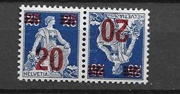 1921 MNH Switserland Pair Mi 161 Postfris** - Unused Stamps