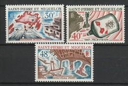 SAINT PIERRE ET MIQUELON 1967 YT N° 376 à 378 ** - Neufs
