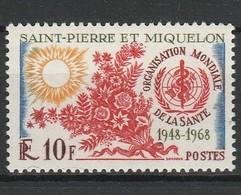 SAINT PIERRE ET MIQUELON 1968 YT N° 379 ** - St.Pedro Y Miquelon