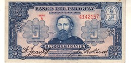 Paraguay P.179 5 Guarani 1943 Vf++ - Paraguay