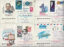 U.R.S.S. LOT DE 10 ENTIERS AERIEN  + COSMOS  1950-60 - 1923-1991 URSS