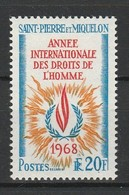 SAINT PIERRE ET MIQUELON 1968 YT N° 384 * - St.Pierre Et Miquelon