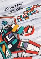 Switzerland 1998 Card: Ice Hockey Sur Glace Eishockey IIHF World Championship WM; Frama Label; Flags Zürich Cancellation - Hockey (sur Glace)