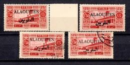 Alaouites YT N° 28A Variété Surcharge Noire Un Timbre Neuf * Et Trois Oblitérés. B/TB. A Saisir! - Alexandretta (1938)