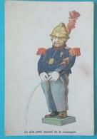 CARTE MANNEKEN PIS LE PLUS PETIT CAPORAL DE LA COMPAGNIE - Illustrateurs & Photographes